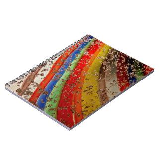 Rainbow Art Glass Spiral Notebooks