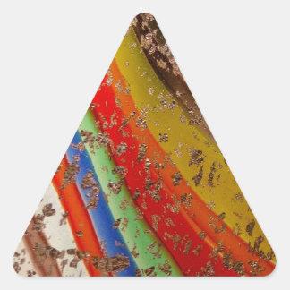 Rainbow Art Glass Triangle Sticker