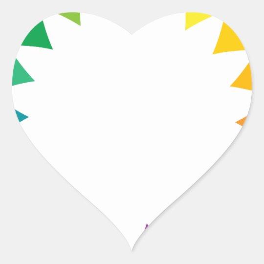 Rainbow Art Heart Sticker