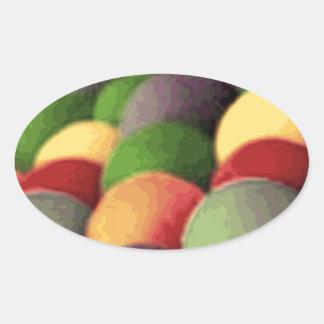 Rainbow Art Oval Stickers