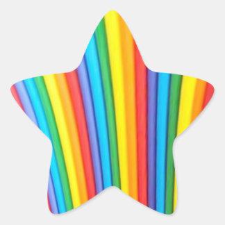 Rainbow Art Star Stickers