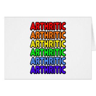 Rainbow Arthritic Card