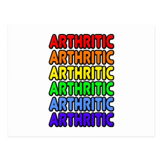 Rainbow Arthritic Postcard
