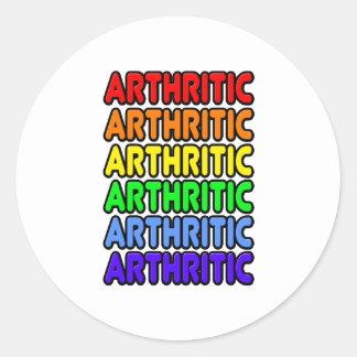 Rainbow Arthritic Round Stickers