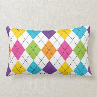 Rainbow Arygle Throw Pillow