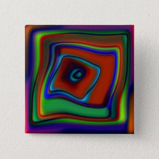 Rainbow Askew Pinback Button
