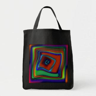 Rainbow Askew Tote Bag