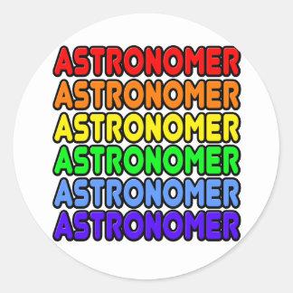Rainbow Astronomer Classic Round Sticker