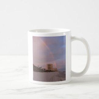 Rainbow at Daytona Beach Coffee Mugs