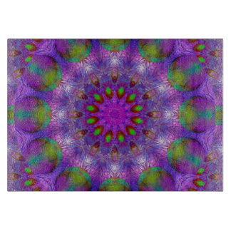 Rainbow at Dusk, Modern Abstract Star of Light Cutting Boards