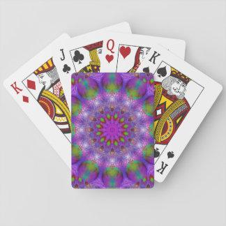 Rainbow at Dusk, Modern Abstract Star of Light Poker Deck