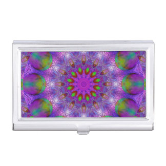 Rainbow at Dusk, Modern Abstract Star of Light Business Card Cases