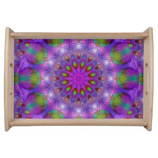 Rainbow at Dusk, Modern Abstract Star of Light Serving Platters