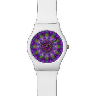 Rainbow at Dusk, Modern Abstract Star of Light Watch