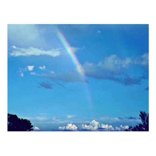 Rainbow At El Morro National Monument Postcard