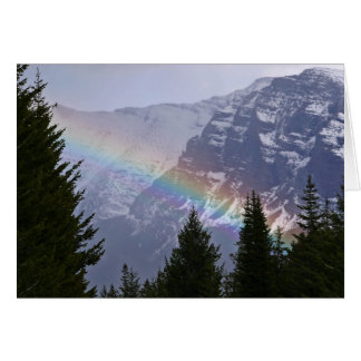 Rainbow at Glacier National Park - Mountains Card