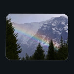 "Rainbow at Glacier National Park - Mountains Magnet<br><div class=""desc"">On one of my first visits to Glacier National Park,  I woke up to a wet and gloomy day. After driving through the park for a few hours,  I looked up and saw this lovely rainbow! It is always too soon to leave Glacier.</div>"