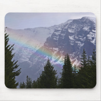 Rainbow at Glacier National Park Mouse Pad