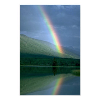 Rainbow at Rabbitkettle Lake, NWT, Canada Poster