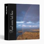 Rainbow at sunset 3 ring binder