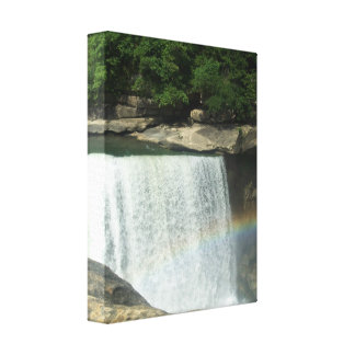 Rainbow at the Falls Canvas Print
