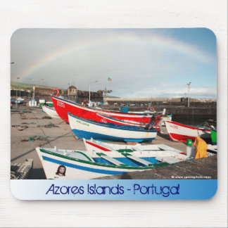 Rainbow at the harbour mouse pad
