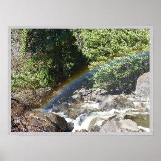 Rainbow at Yosemite Posters