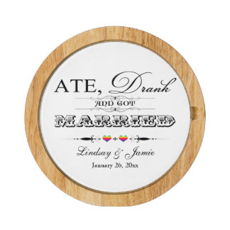 Rainbow Ate, Drink and Got Married Cheese Board 2