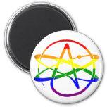 Rainbow Atheist 2 Inch Round Magnet