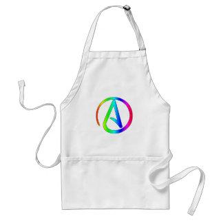 Rainbow Atheist Adult Apron