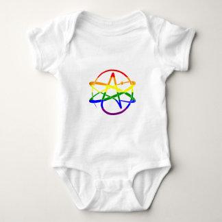 Rainbow Atheist Baby Bodysuit