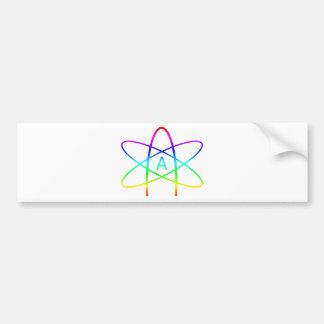 Rainbow Atheist Symbol Bumper Sticker