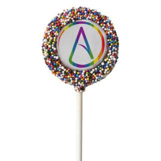 Rainbow Atheist Symbol Cake Pops Chocolate Covered Oreo Pop