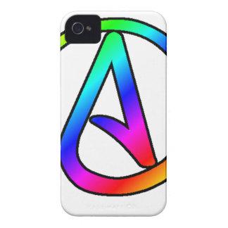 Rainbow Atheist Symbol iPhone 4 Case-Mate Case