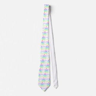 Rainbow Atheist Symbol Neck Tie
