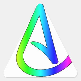 Rainbow Atheist Triangle Sticker