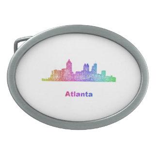 Rainbow Atlanta skyline Belt Buckle