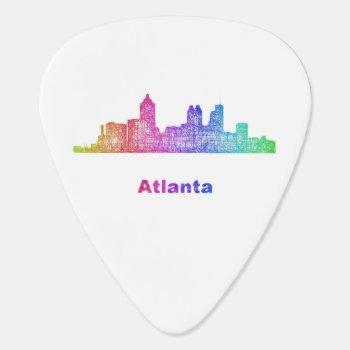 Rainbow Atlanta Skyline Guitar Pick by ZYDDesign at Zazzle