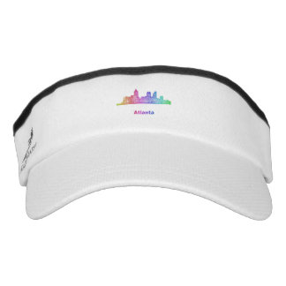 Rainbow Atlanta skyline Visor