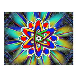Rainbow Atomic Power Postcard