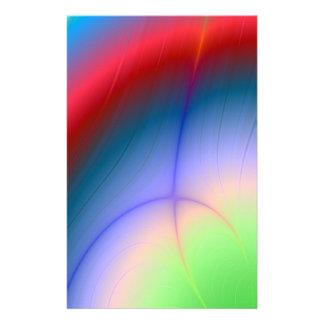 Rainbow Aurora Abstract Stationery