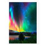 rainbow Aurora Borealis art2 Postcard