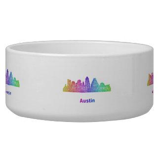 Rainbow Austin skyline Bowl