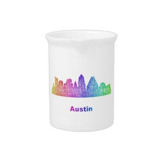 Rainbow Austin skyline Drink Pitchers