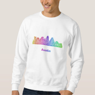 Rainbow Austin skyline Sweatshirt