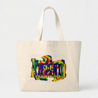 Rainbow Autism Puzzle Large Tote Bag