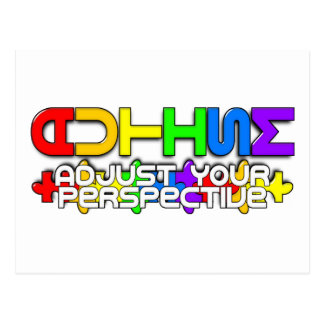 Rainbow Autism Puzzle Postcard