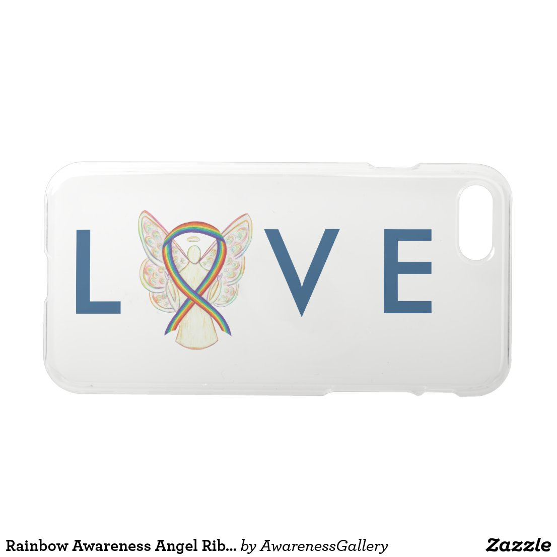 Rainbow Awareness Angel Ribbon iPhone 7 Case