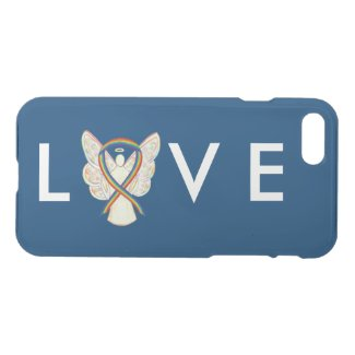 Rainbow Awareness Angel Ribbon Phone Case
