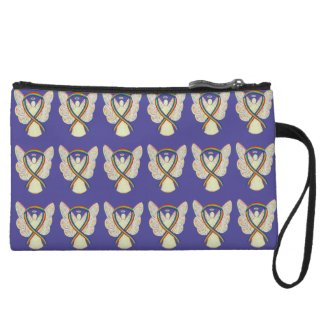 Rainbow Awareness Ribbon Angel Custom Clutch Purse